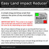 Easy Land impact Reducer
