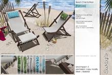 Sway's [Frances] Beach Chair & Stool