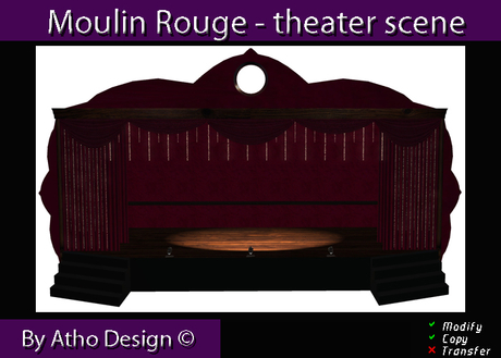 Theater scene - Moulin Rouge - full mesh