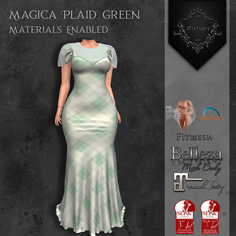 **Mistique** Magica Plaid Green {wear me and click to unpack)