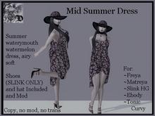 Mid Watermelon Summer Dress DEMO (ADD ME)