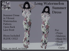 Long Summer Watermelon Dress DEMO (ADD ME)
