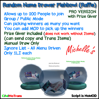Random Name Drawer Fishbowl (Raffle) Pro with Prize Giver