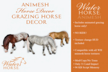 ~*WH*~ Animesh Grazing Horse Decor