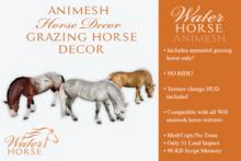 ~*WH*~ Animesh Grazing Horse Decor (rez)