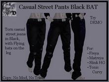 Casual Street Pants Black BAT DEMO (ADD ME)
