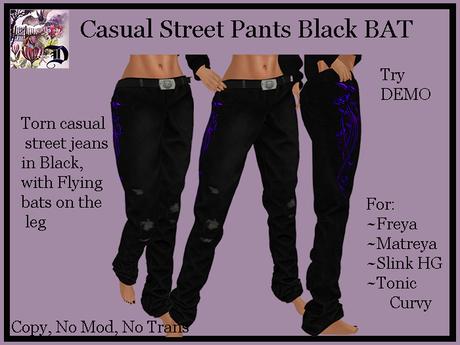 Casual Street Pants Black BAT (ADD ME)