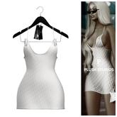 PlushStudios. Pior Sheer Dress - White