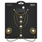 CELESTE - Elva Body Chain Set Gold