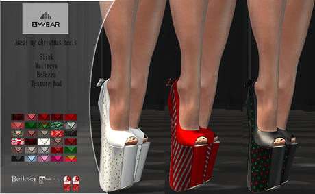 Awear my christmas heels