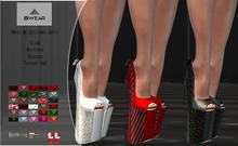 Awear my christmas heels*