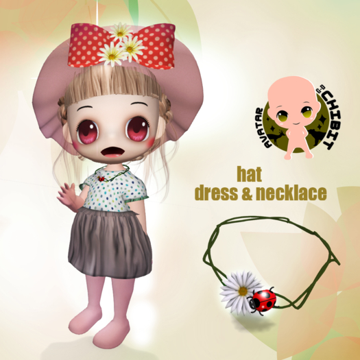 CHIBIT - Dress Hat & Necklace