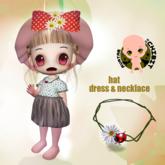 CHIBIT - Dress Hat & Necklace