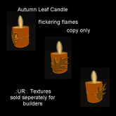 Boxed Row DeepGold Autumn Candle with flame