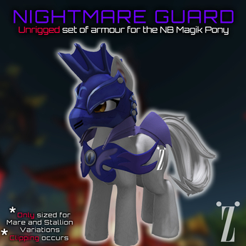 [inZoxi] - Nightguard Armour Set for NB Stallion & Mare