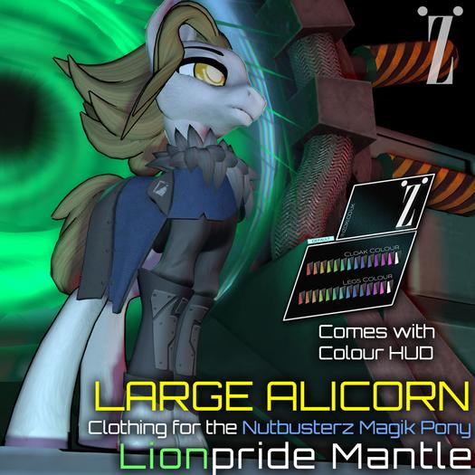 [inZoxi] - Box - Lionpride Mantle for NB Pony [LARGE ALIRCORN]