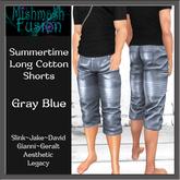 ~*MF*~ Summertime Cotton Shorts - Gray Blue