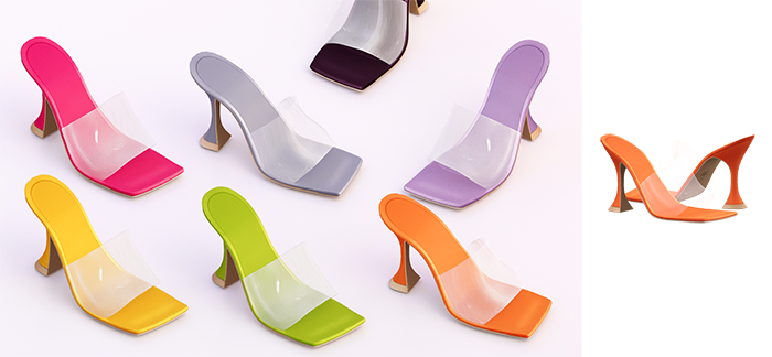 Ec.cloth - Strap Cake Heels - Orange (add it)