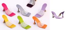 Ec.cloth - Strap Cake Heels - Lilac (add it)