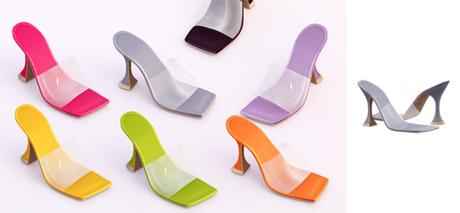 Ec.cloth - Strap Cake Heels - Light Gray (add it)