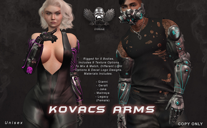 [The Forge] Kovacs Arms. (DEMO)