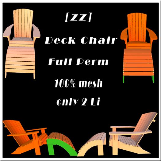 [zz] Deck Chair Full Perm 100% mesh 2Li