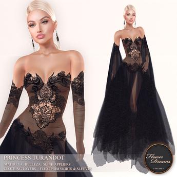 .:FlowerDreams:.Princess Turandot - black (appliers included)