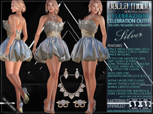 Bella Moda Celebrazione Silver Celebration Outfit: Maitreya/Legacy/Perky/Physique/Hourglass/Isis/Venus/Freya+Fitted Std