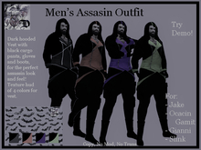Men's Assassin Outfit DEMO (ADD ME)