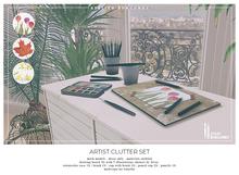 Atelier Burgundy . The Artist Clutter Set