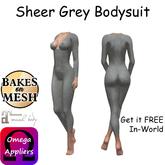 L&S - Sheer Grey Bodysuit FREE