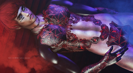 THIS IS WRONG Succubus shine+tattoo 3D - male pack