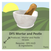 DFS Mortar and Pestle