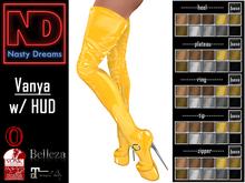 Nasty Dreams - Vanya Latex Boots Yellow