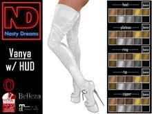 Nasty Dreams - Vanya Latex Boots White