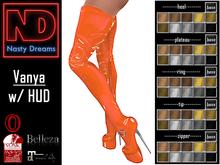 Nasty Dreams - Vanya Latex Boots Orange