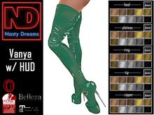 Nasty Dreams - Vanya Latex Boots Green