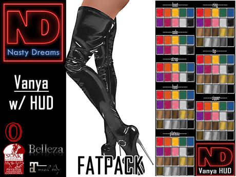 Nasty Dreams - Vanya Latex Boots Fatpack