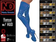 Nasty Dreams - Vanya Latex Boots Blue
