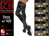 Nasty Dreams - Vanya Latex Boots Black