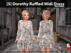 [S] Dorothy Ruffled Midi Dress Patterns