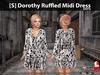 [S] Dorothy Ruffled Midi Dress Dots