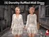 [S] Dorothy Ruffled Midi Dress Beige