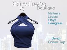 Birdie's Boutique - Sandi Crossed Top - Navy