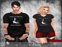 Tastic-Exhale Unicorn Shirt-Male