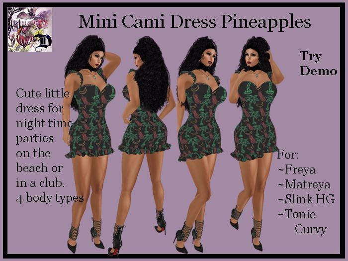 Mini Cami Dress Pineapples (ADD ME)