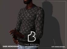 -TB- Monogram Dark Fleece
