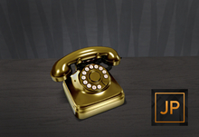 -David Heather-Rotary Phone/Gold RARE