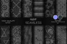 MEOW - PACK GOTH GLITTER SEAMLESS 36 [ADD ME]