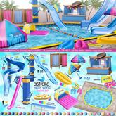 Astralia - Water world (decor flip flops) blue